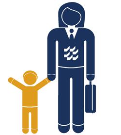 Arbeiten mit familiären Aufgaben